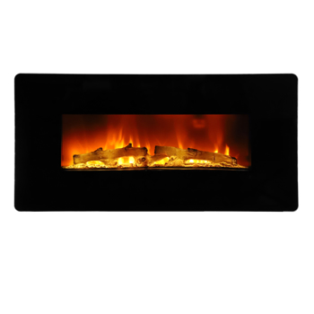 ZOKOP SF310-36A 36 inch 1400W Wall Hanging / Fireplace Colorful / Fake Wood / Heating Wire / with Small Remote Control Electronic / Black