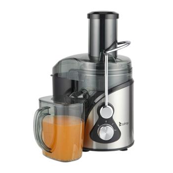 ZOKOP British Standard ALW-J09 220V 800W 1000ml Juice Cup Plastic 85mm Large Diameter/1500ml Slag Cup/Third Gear/Mechanical Electric Juicer Black