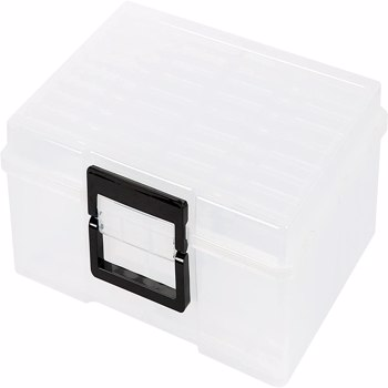 """Photo Case 5"""" x 7"""" Photo Box Storage and Craft Keeper - 18 Inner Photo Keeper Photo Organizer Cases Photos Storage Containers Box for Photos (Clear)"""